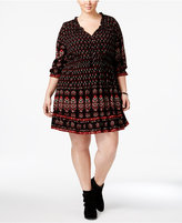 American Rag Trendy Plus Size Printed Peasant Dress, Only at Macy's