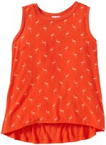 Splendid Flamingo Print Tank Top (Toddler/Kid) - Orange-4T