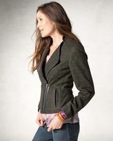 Coldwater Creek Asymmetrical zip jacket
