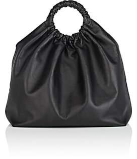 The Row Women's Double-Circle Leather Extra-Large Bag - Black