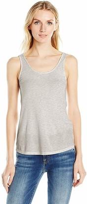 GUESS Women's Sleeveless Double Scoop Neck Tank