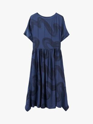 Toast Verdier Brushstroke Print Dress, Blue