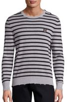 The Kooples SPORT Striped Cotton Sweater