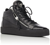 Giuseppe Zanotti Men's Double-Zip Mid-Top Sneakers-BLACK
