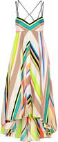 Milly Striped crepe midi dress