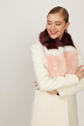 Coast Colour Block Faux Fur Scarf