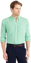 J.Mclaughlin Carnegie Classic Fit Linen Shirt in Gingham