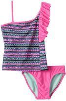 Girls 7-16 SO® Tribal Print 2-pc. Asymmetrical Tankini Swimsuit Set