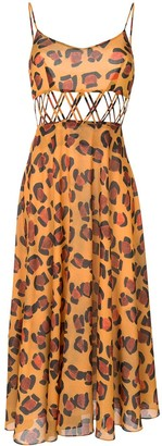 Tata-Naka Leopard Print Dress