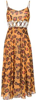 Tata-Naka Tata Naka leopard print dress