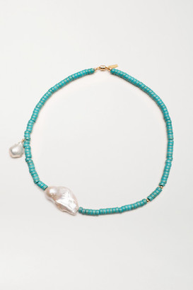 Eliou Gela Turquoise And Pearl Necklace