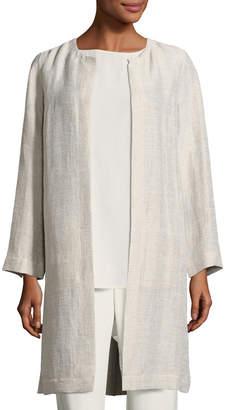 Eileen Fisher Organic Linen/Cotton Topper Jacket