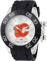 Game Time Men's NHL-BEA-CAL Beast Round Analog Watch