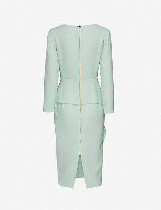 Roland Mouret Abbaye wool midi dress