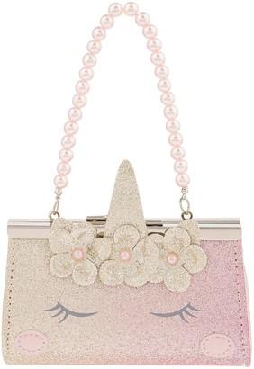 Monsoon Girls Unicorn Mini Bag - Gold