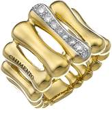 Chimento 18K Yellow & White Gold Bamboo Over Collection Statement Ring with Diamonds