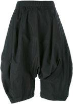 Comme des Garcons drop crotch volume shorts - women - Polyester - S