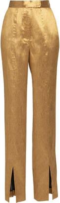 Lake Studio Lamé Slim-Leg Pants