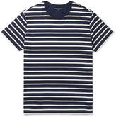 Derek Rose Alfie Striped Stretch-micro Modal Jersey T-shirt - Navy