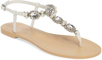 Bella Belle Hera Embellished T-Strap Sandal