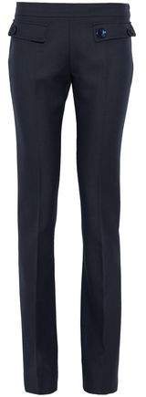 Giambattista Valli Button-Detailed Wool-Piqué Bootcut Pants