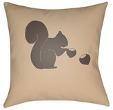Surya Nuts for Fall Throw Pillow