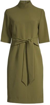 Toccin Tie-Waist Three-Quarter Sleeve Dress