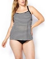 Penningtons Sea - Striped Mesh Tankini Swim Top