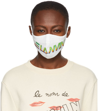 Lanvin Two-Pack Black and White Logo Face Masks