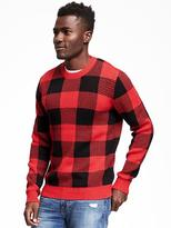 Old Navy Checkered Crew-Neck Sweater for Men