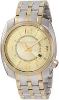 Vince Camuto Men's VC/1000CHTT The Pilot Champagne Dial Date Function Two-Tone Watch