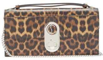 Christian Louboutin Elisa Leopard-print Leather Cross-body Bag - Leopard