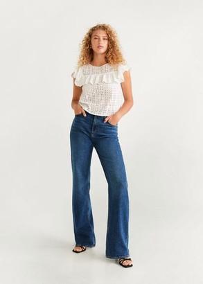 MANGO Openwork cotton blouse white - 2 - Women