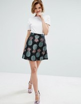 House of Holland Pineapple Jacquard Skirt