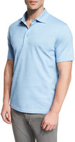 Ermenegildo Zegna Short-Sleeve Polo Shirt, Sky Blue