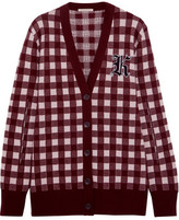 Christopher Kane Gingham Wool And Cashmere-Blend Cardigan