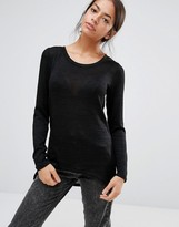 Only Zip Back Fine Knit Sweater