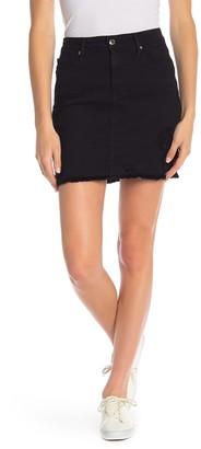 Good American Raw Edge Denim Mini Skirt (Regular & Plus Size)