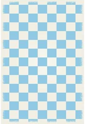 Wenger Winston Porter Light Blue/White Area Rug Winston Porter Rug Size: Rectangle 4' x 6'
