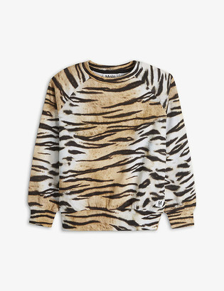 Molo Tiger-print organic cotton sweatshirt 4-14 years
