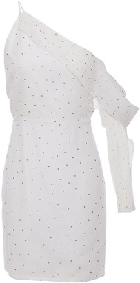 Mason by Michelle Mason One-sleeve Polka-dot Silk-chiffon Mini Dress