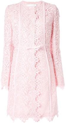 Giambattista Valli floral lace midi coat