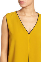 Halogen Piped V-Neck Sleeveless Top (Petite)