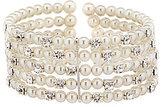 Cezanne Faux-Pearl & Rhinestone Multi-Row Cuff Bracelet