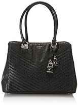 GUESS Hwsy6780090, Women's Top-Handle Bag, Nero, 10.5x18x24 cm (W x H L)