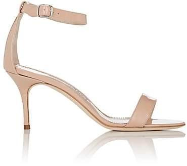 Manolo Blahnik Women's Chaos Patent Leather Sandals - Nude Patent Clnud08