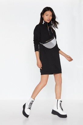 Nasty Gal Womens Nasty Sweatshirt Zip Dress - black - 6