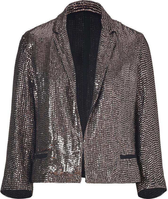 Faith Connexion Black/Metallic Sequined Jacket
