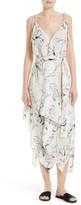 Diane von Furstenberg Women's New Scarf Hem Silk Midi Dress