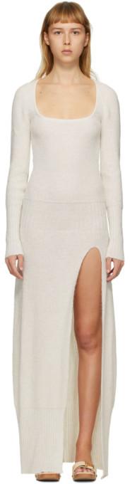 Jacquemus SSENSE Exclusive Off-White La Robe Dao Dress